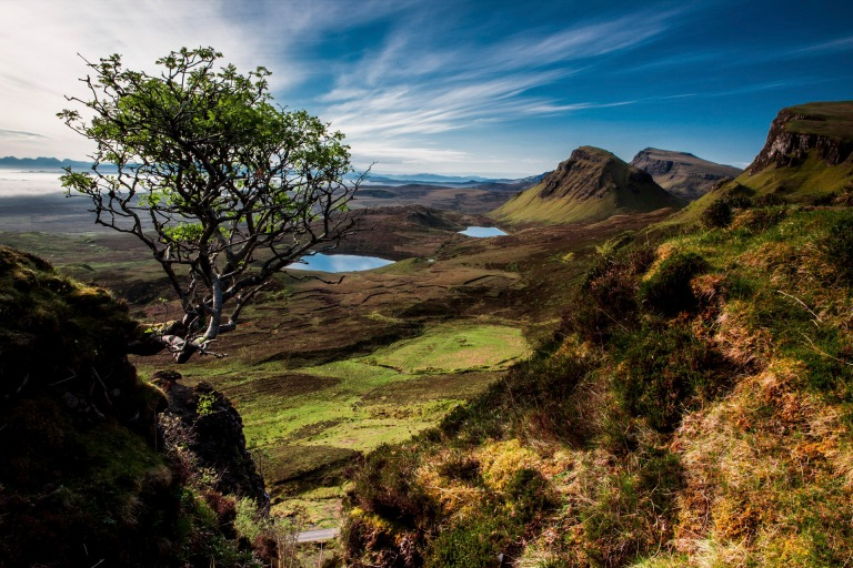 Beautiful landscape view of Quairaing Scotland. Photo by Tobias.
